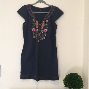 Lucky Brand Embroidered Shift Dress | M